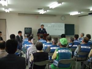 「青色防犯パトロール隊(青パト)」出発式-3