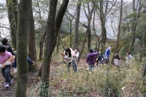 平成27年2月22日(日) わいわい教室「品野台小 里山整備」-5