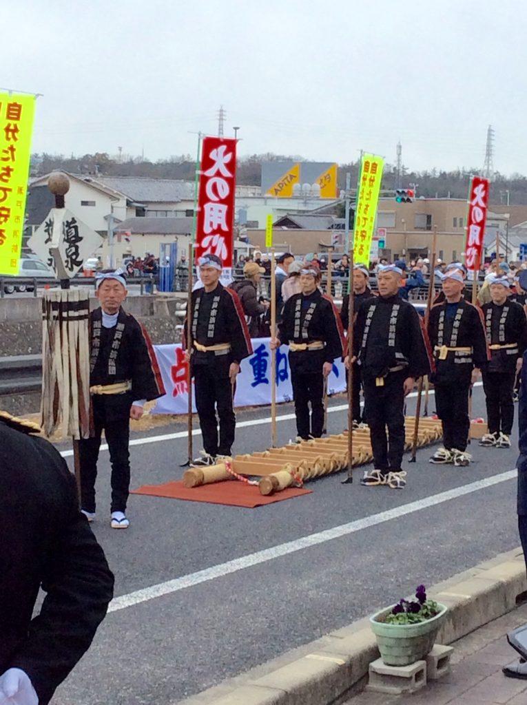 ↑道泉分団の演技が始まります